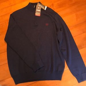 NWT Men's Chaps quarter zip sweater